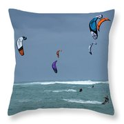 Windsurfing Hawaii Throw Pillow