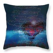 Windswept Love Throw Pillow