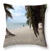Windswept Palms Throw Pillow