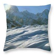 1m9342-windswept Snow Throw Pillow