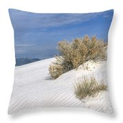 Windswept - White Sands National Monument Throw Pillow