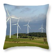 Windturbines Throw Pillow by Bernard Jaubert