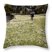 Windy And Cloudy Throw Pillow