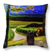 Windy Autumn With Still Life 05 Throw Pillow