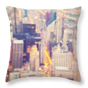 Windy City Lights - Chicago Throw Pillow