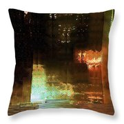 Windy City Night Throw Pillow