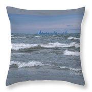 Windy City Skyline Throw Pillow