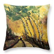 Windy Countryside Day Throw Pillow