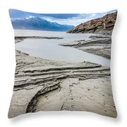 Windy Day At Windy Corner Throw Pillow