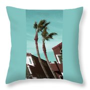 Windy Day By The Ocean  Throw Pillow