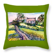 Windy Day Clear Island  Throw Pillow