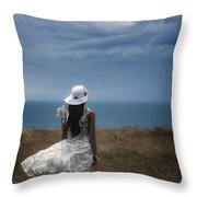 Windy Day Throw Pillow by Joana Kruse