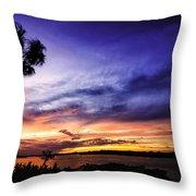 Windy Evening Throw Pillow