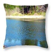 Windy Grace Lake Throw Pillow
