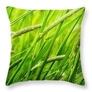Windy Green Throw Pillow