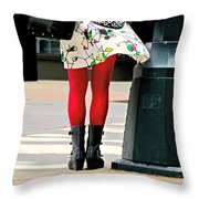 Windy Morning In Manhattan Throw Pillow