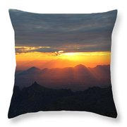Windy Point Sunset 2 Throw Pillow