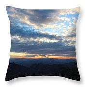 Windy Point Sunset Throw Pillow