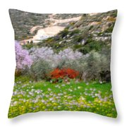 Windy Spring Day Throw Pillow