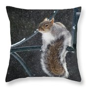 Windy Winter Day Throw Pillow