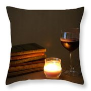 Wine And Wonder B Throw Pillow