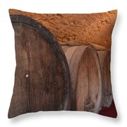 Wine Barrel Throw Pillow