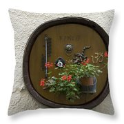 Wine Barrel Decoration Throw Pillow