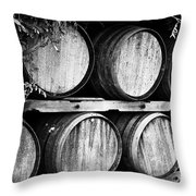Wine Barrels Throw Pillow by Scott Pellegrin
