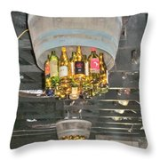 Wine Bottle Chandelier Throw Pillow