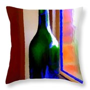 Wine Bottle Throw Pillow