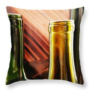 Wine Bottles 2 Throw Pillow
