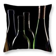 Wine Bottles Throw Pillow by Tom Mc Nemar