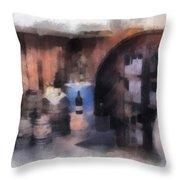 Wine Cellar Photo Art Throw Pillow