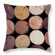 Wine Corks 1 Throw Pillow by Jane Rix