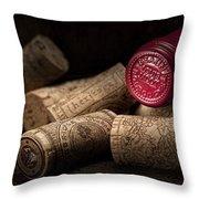 Wine Corks Still Life Iv Throw Pillow