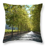 Wine Country Napa Throw Pillow