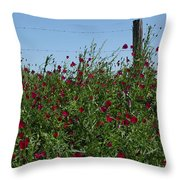 Wine Cups And Barbed Wire Throw Pillow
