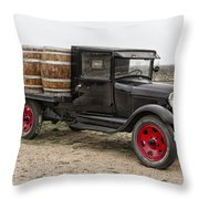 Wine Delivery Truck Throw Pillow