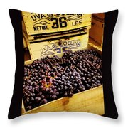 Wine Grapes II Throw Pillow