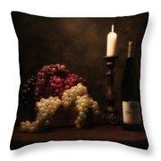 Wine Harvest Still Life Throw Pillow
