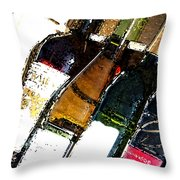 Wine In A Row Throw Pillow
