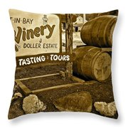 Wine Is Fine Throw Pillow