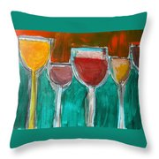 Wine Party 3 Throw Pillow