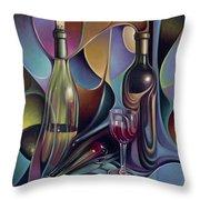 Wine Spirits Throw Pillow