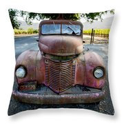 Wine Truck Throw Pillow