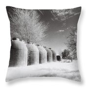 Wine Vats Rutherglen Throw Pillow