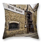 Wine Wharf Throw Pillow by Heather Applegate