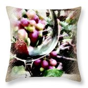 Wine With Everything Throw Pillow
