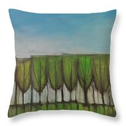 Wineglass Treeline Throw Pillow