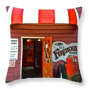 Winery Entrance Throw Pillow